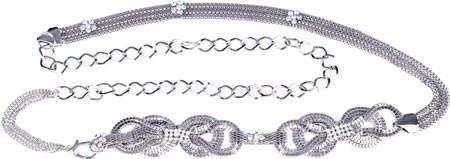 Women's J. Furmani Designer Collection Double Bow Chain Belt