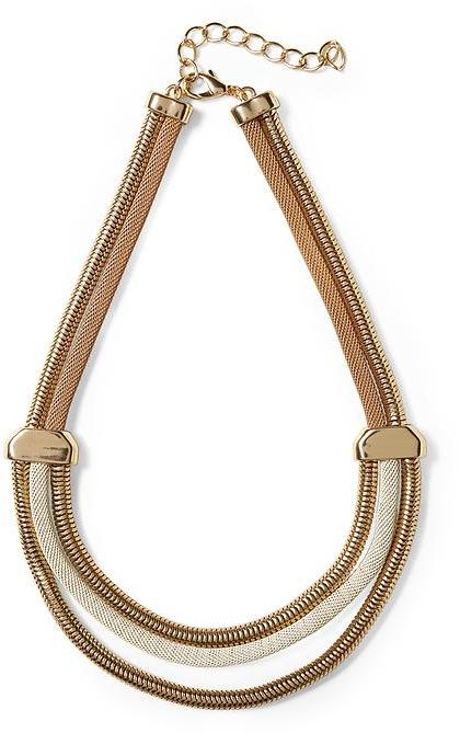 BCBGMAXAZRIA Hive & Honey Triple Cord Necklace