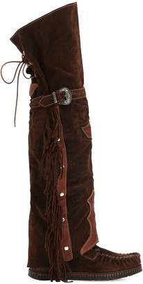 EL VAQUERO 70mm Coleen Suede Over-The-Knee Boots
