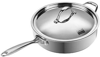 "Cooks Standard 11"" 5 Quart Multi-Ply Clad Deep Saute Pan with Lid, Stainless Steel"