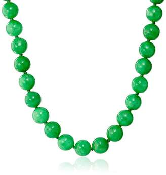 14k Yellow Gold 10mm Jade Strand Necklace