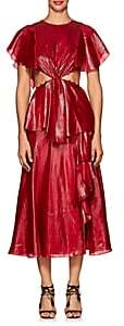 Prabal Gurung Women's Cutout Lamé Asymmetric Dress - Hibiscus