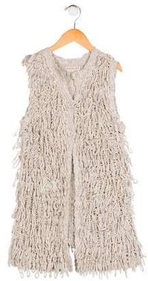 Twin-Set Twin.Set Girls' Textured Knit Vest