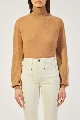 KHAITE The Julie Sweater in Camel