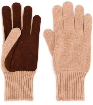 Brunello Cucinelli perforated gloves