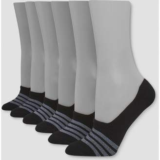 15f766159ad56 Hanes Premium Women's Xtemp Invisible 4+2 Bonus Pack Liner Socks - Black 5-