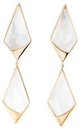Lana 14K Mother of Pearl Double Kite Earrings
