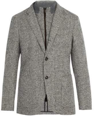Ermenegildo Zegna Checked Alpaca Blend Blazer - Mens - Grey