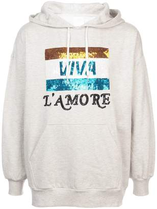 Ashish Viva L'Amore beaded hoodie