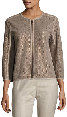 Lafayette 148 New York Pascale Snake-Embossed Jacket, Multi $699 thestylecure.com
