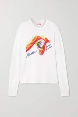 Solid & Striped Re/done The Montauk Printed Slub Cotton-jersey Top - White