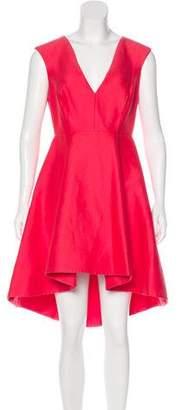 Halston Sleeveless High-Low Dress