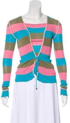 Fendi Striped Cardigan Set