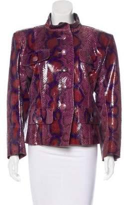 Saint Laurent Vintage Python Jacket