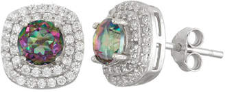 FINE JEWELRY Simulated Mystic Topaz Sterling Silver Earrings
