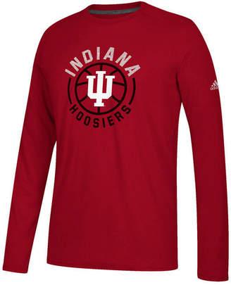 adidas Men Indiana Hoosiers Center Court Long Sleeve T-Shirt