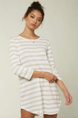 O'Neill Off-White Striped Tunic