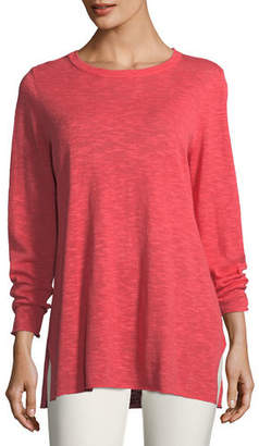 Eileen Fisher Plus Size Easy Long-Sleeve Pullover Tunic