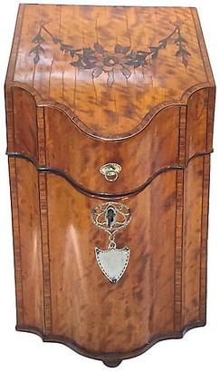 One Kings Lane Vintage Antique English Burl-Wood Knife Box - Vermilion Designs