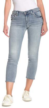 True Religion Halle Flap Pocket Capri Jeans
