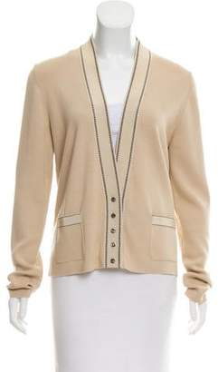 Salvatore Ferragamo Wool-Blend V-Neck Cardigan
