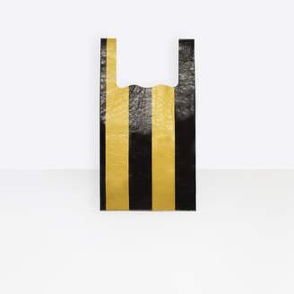 Balenciaga Striped leather shopping bag