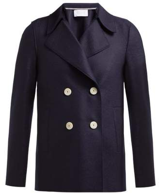 Harris Wharf London Wool Pea Coat - Womens - Navy