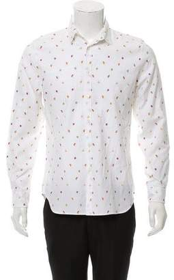 Paul Smith Patterned Button-Up Shirt