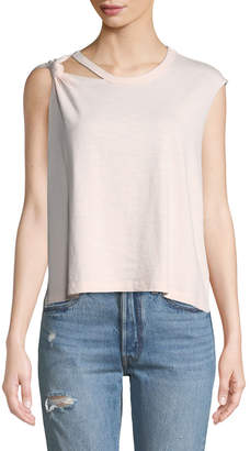 Current/Elliott Sonic Knotted Cotton Tank