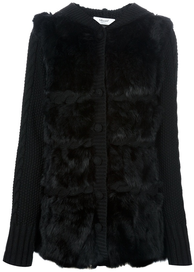 Blugirl Rabbit fur coat