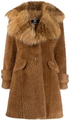Elisabetta Franchi faux-fur midi coat