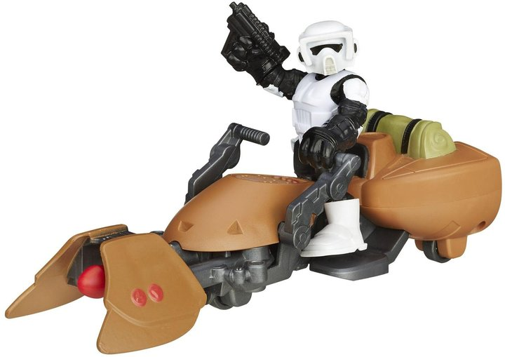 Star Wars Galactic Heroes Scout Trooper And Speeder Bike