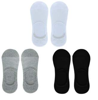 YH 6 Pairs Men Boat Invisible No Show Socks Non-Slip Liner Low Cut Cotton
