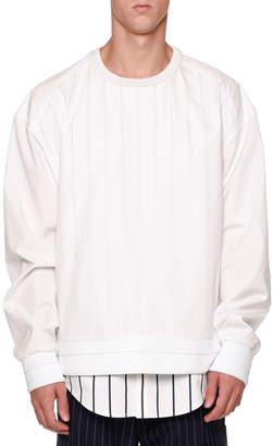 Juun.J Juun J Double-Layer Sweatshirt & Shirt Combo
