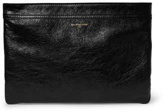 Balenciaga Ligne Creased-Leather Pouch