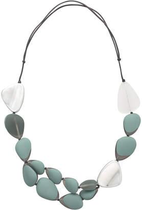 Oliver Bonas Cordelia Mixed Tone & Metallic Pebble Necklace