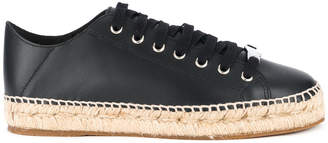 DSQUARED2 low-top sneakers with straw sole