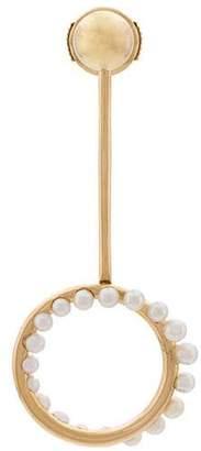 Leon Yvonne circular drop pearl earring