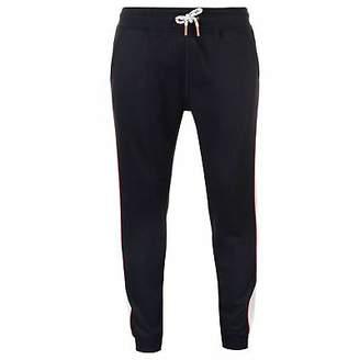 Soul Cal SoulCal Mens Leg Panel Joggers Jersey Jogging Bottoms Trousers Pants Drawstring