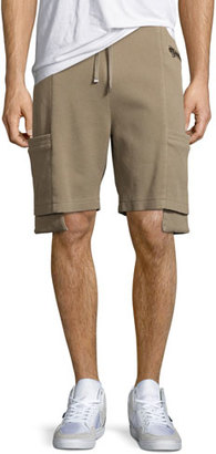 Helmut Lang Exposed-Pocket Shorts, Tan $310 thestylecure.com