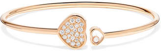 Chopard Happy Hearts 18-karat Rose Gold Diamond Cuff