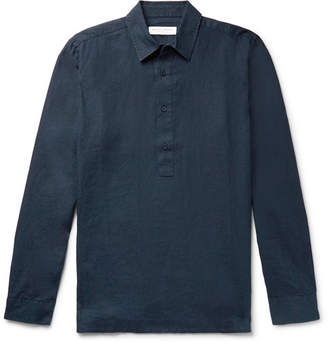 Orlebar Brown Ridley Slub Linen Polo Shirt