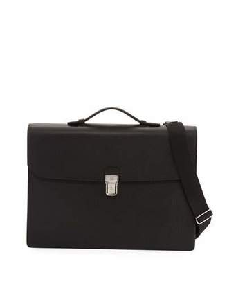Dunhill Cadogan Double-Flap Leather Briefcase