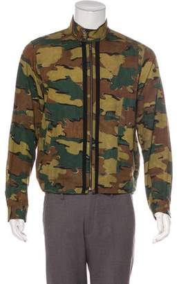 Dries Van Noten Twill Linen-Blend Camouflage Jacket
