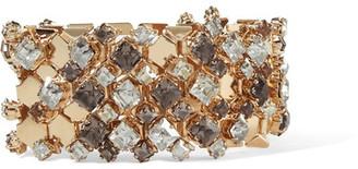 Lanvin - Gold-tone Swarovski Crystal Bracelet - one size $1,095 thestylecure.com