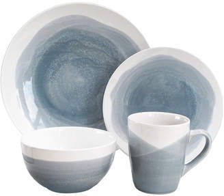 Jay Import Oasis Blue/Gray 16Pc Dinner Set