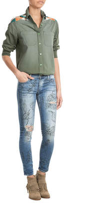 True Religion Halle Jeans with Floral Print $299 thestylecure.com