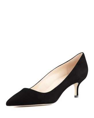 Manolo Blahnik BB Suede 50mm Pump $595 thestylecure.com