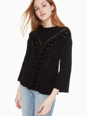 Kate Spade velvet ribbon sweater