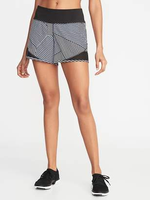Old Navy Mid-Rise 4-Way Stretch Mesh-Trim Run Shorts for Women